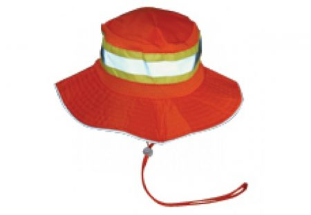 Booney Hat Orange with Reflective Tape