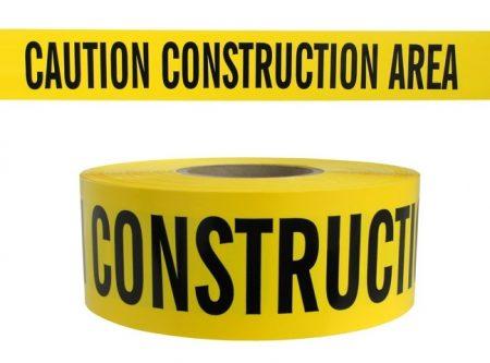 CAUTION CONSTRUCTION AREA YELLOW TAPE